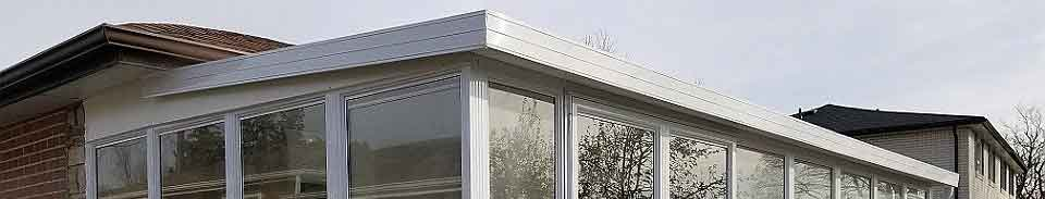 Porch enclosure with build roof